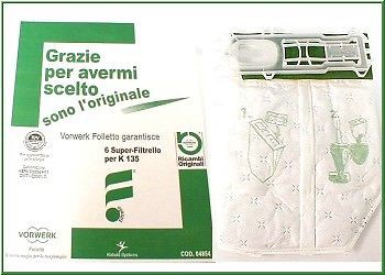 SACCHETTI FOLLETTO VK 135-VK 136 (6 PZ) ORIGINALI
