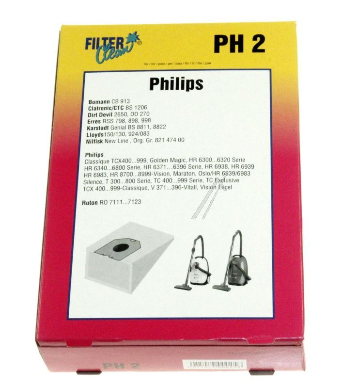 00025-K PH2 SACCHETTI ASPIRAPOLVERE FILTER CLEAN