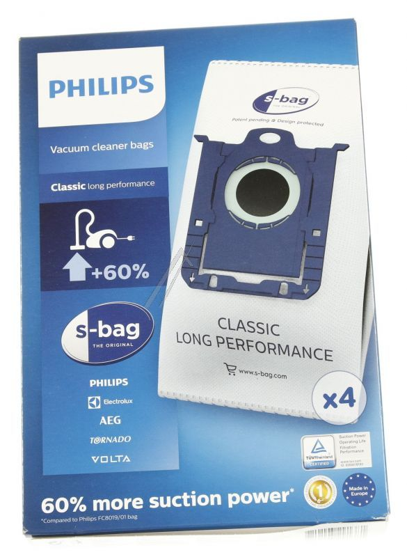 FC8021/03 Philips s-bag sacco per la polvere usa e getta