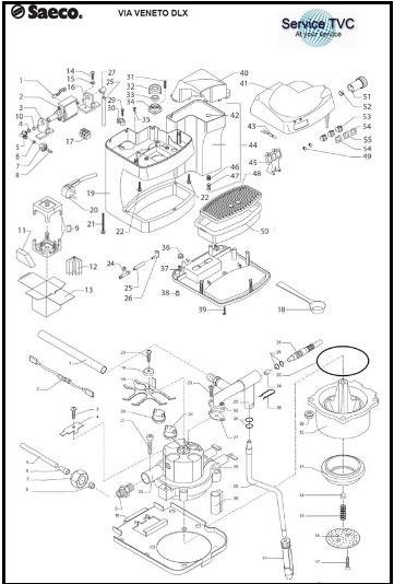 3 pezzi Kit di riparazione per pressurizzato MACINA SAECO GAGGIA parti
